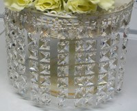 1 Can 30 Feet Hanging Clear Faux Crystal Acrylic Strands Glass