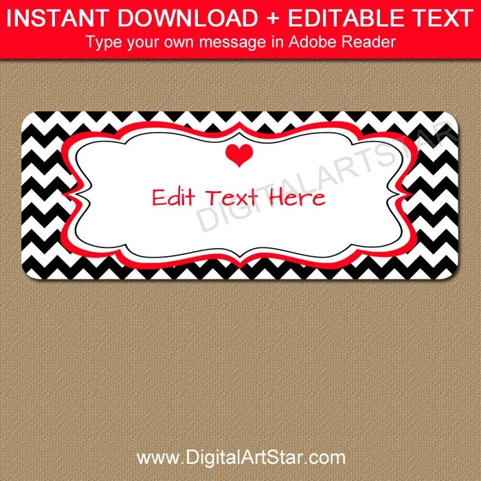 Valentines Day Return Address Labels, Printable Valentine Address