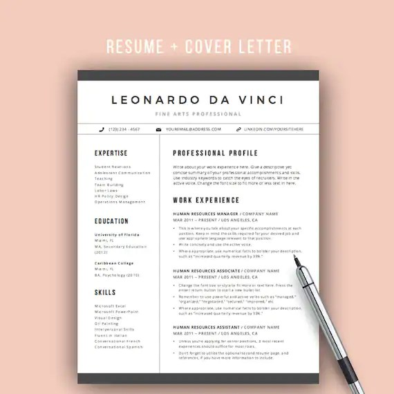 Teacher Resume Template Word 4 Pages Resume Icons CV - mac pages resume templates