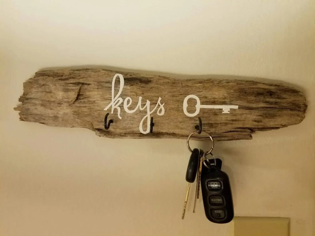 Driftwood Key Holder Etsy