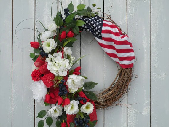 Fourth Of July Floral Wreaths Page Two Fourth Of July Wikii