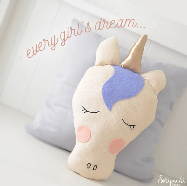 Kissenkiste Unicorn Pillow Sewing Pattern // Diy // Fabric Toy Pattern