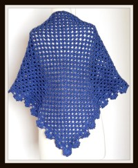 Crochet PATTERN Shawl Quick and Easy 3 Skein Project