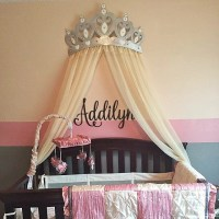 Bed Canopy Crown Wall Decor in Silver With White by ...