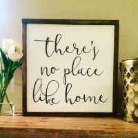 There's no place like home wood sign/Home Decor/Wall