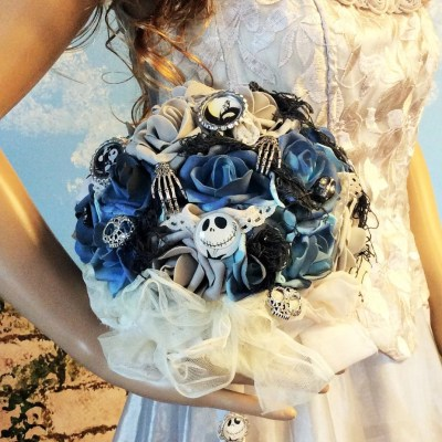 Nightmare Before Christmas Wedding Bouquet/Bridal