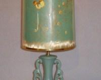 Aqua table lamp   Etsy