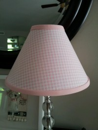 Pink Gingham Lamp Shade