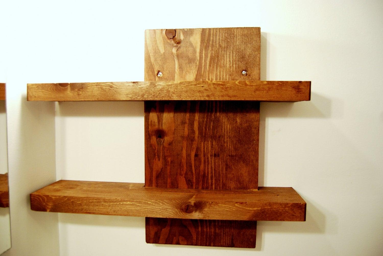 2 Tier Wood Wall Shelf