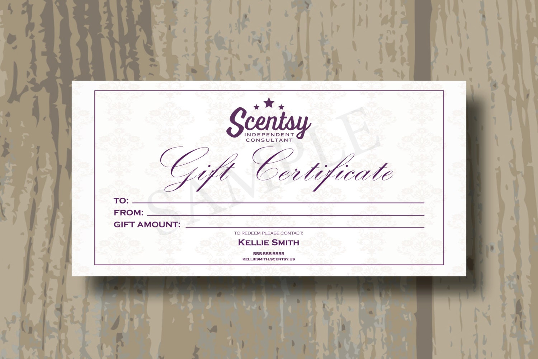 Scentsy Gift Certificate Template - Costumepartyrun