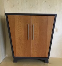 Mid Century Modern Entryway Cabinet Shoe Storage Cabinet with