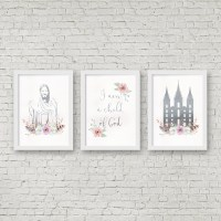 Lds temple wall art   Etsy