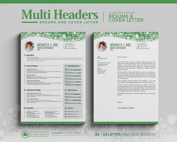 gridride - Resume Template / CV Template Instant Download  Multi