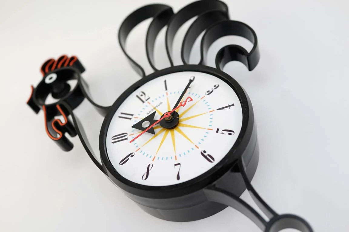 Atomic Wall Clocks Made In Usa Vintage Spartus Rooster Wall Clock Starburst Sunburst Atomic