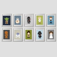 Star wars wall art prints set of 10 5x7 inch prints