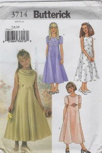 Flower Girl/Junior Bridesmaid dress pattern with flared ...