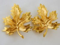 Vintage Maple Leaf Earrings Vintage Leaf Earrings Clip by ...
