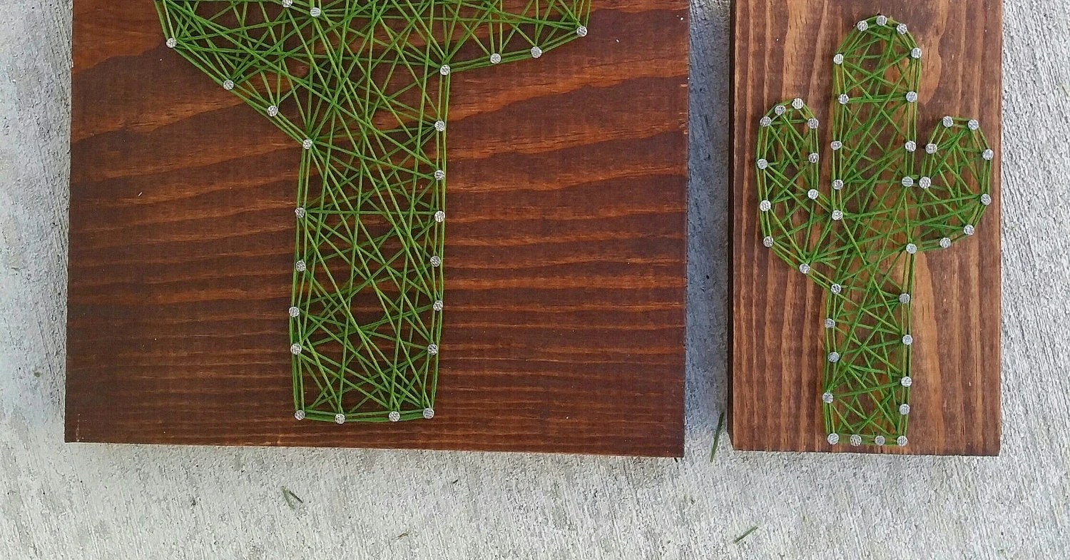 Update String Made To Order String Art Cactus Sign