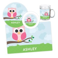 Owl Plate, Bowl, Mug or Placemat - Personalized Owl ...