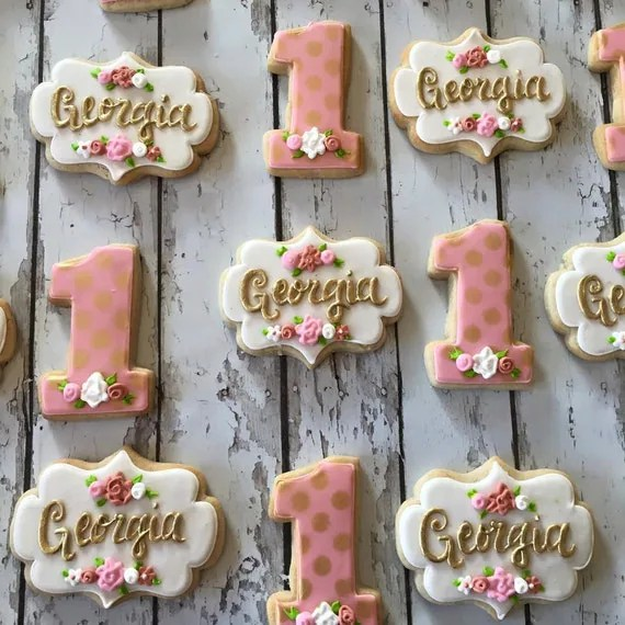 Baby Boy N Girl Wallpapers Items Similar To Rose Gold Georgia Cookies On Etsy