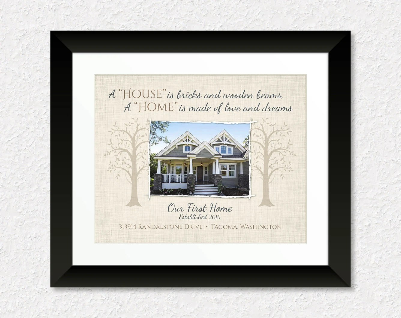 Personalized House Warming Gift Custom Housewarming Gift Personalized New House By