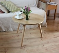 Side table Mid century three legs table small round coffee