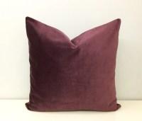 Plum Velvet Pillow Cover Velvet Throw Pillows by artdecopillow