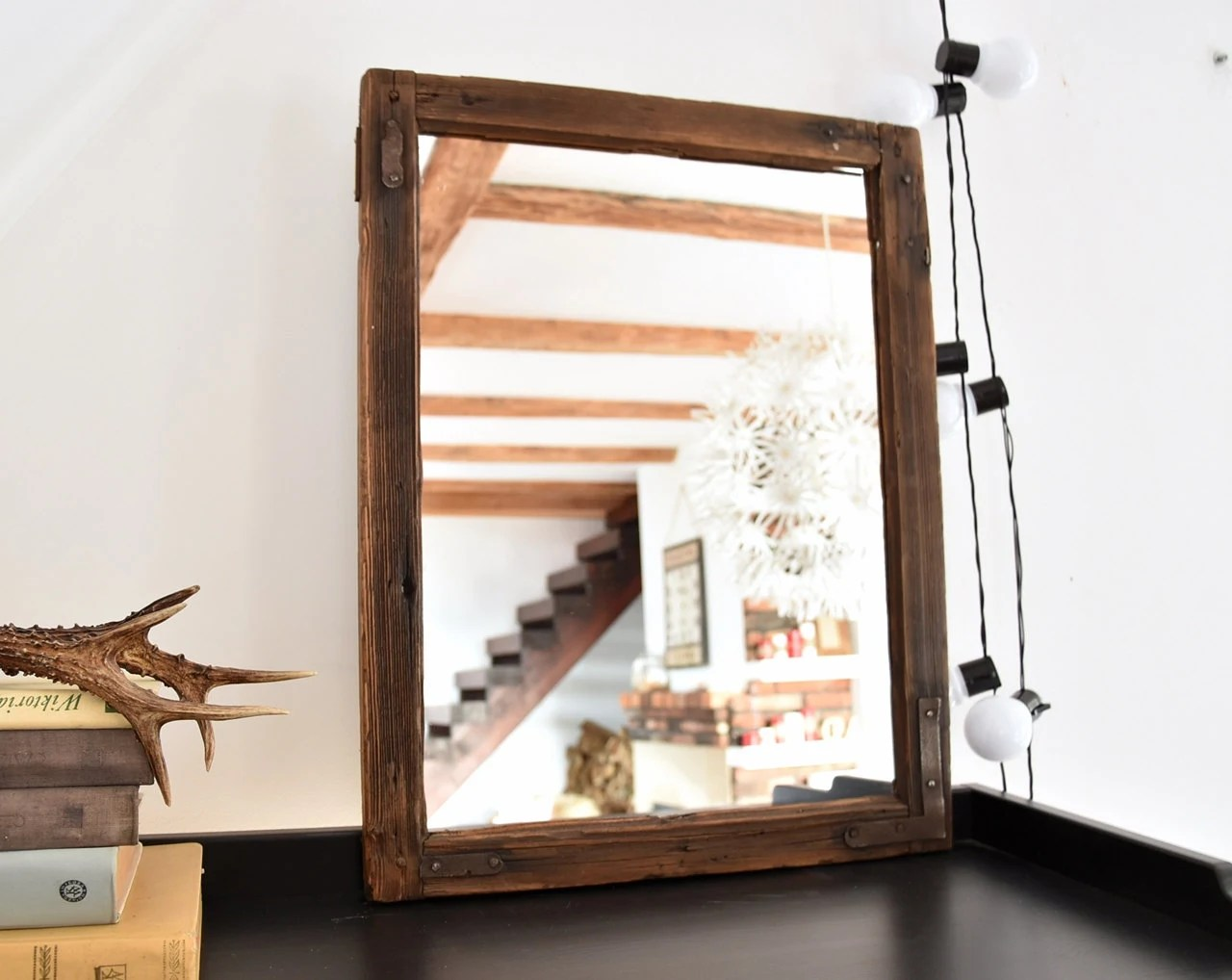 Loft Style Window Mirror Mirror From An Old Window Frame Farmhouse Style Vintage Loft