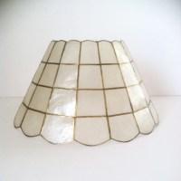 Vintage Capiz Shell Lamp Shade by Sawbucks on Etsy