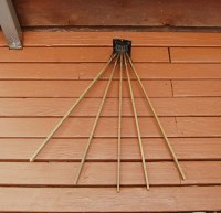 Drying Rack Wall Mounted Wood 5 Arm Drying Rack Primitive