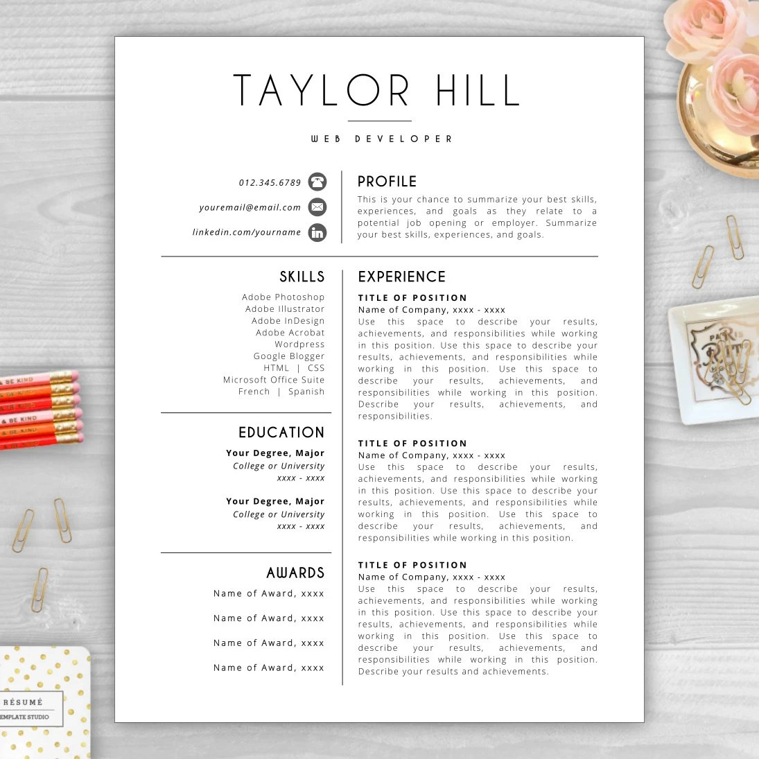 Word Resume Template Add New Section | Sample Customer Service Resume