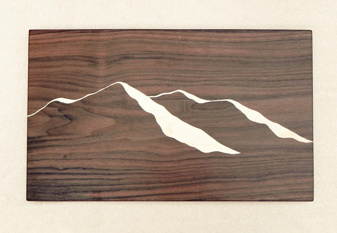 Unusual Cutting Boards Unique Dark Wood Cutting Board With Mountain Ridge View