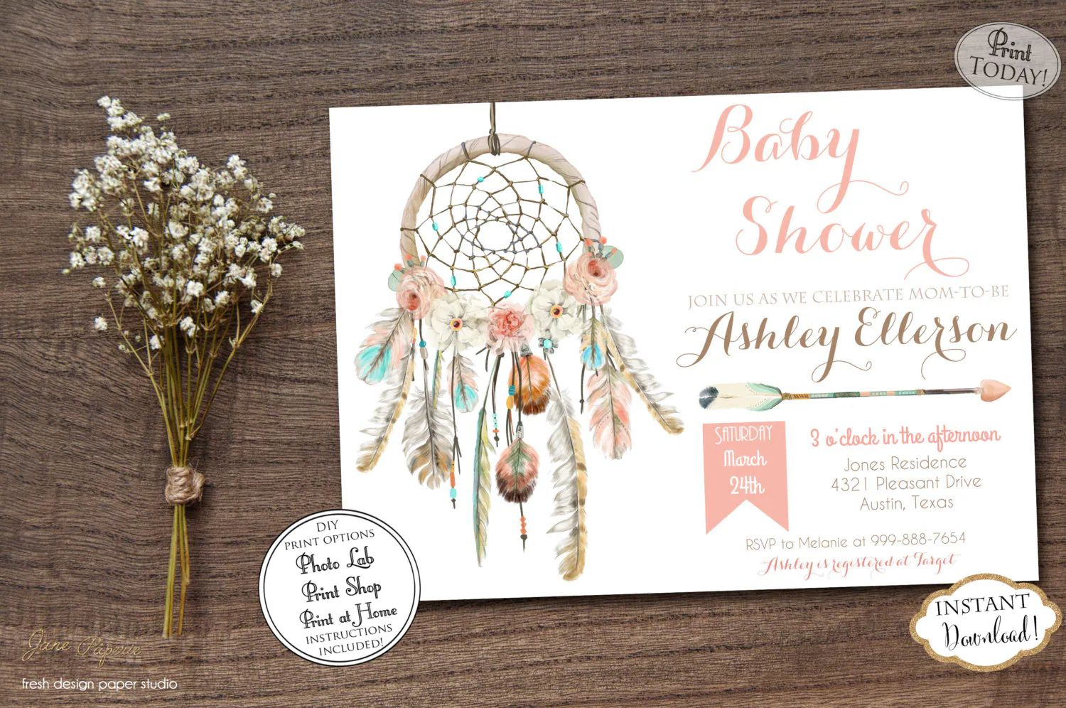 baby shower invitation download