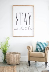 Stay awhile framed print Home Decor Wall Art by ...