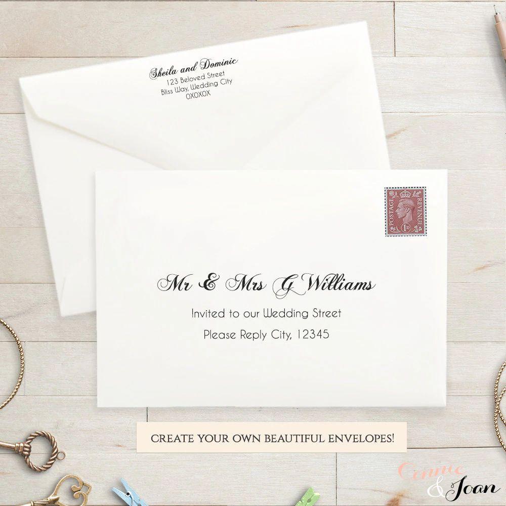 a7 wedding envelopes