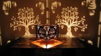 Decorative lasercut wood tree of life shadow lamp handmade