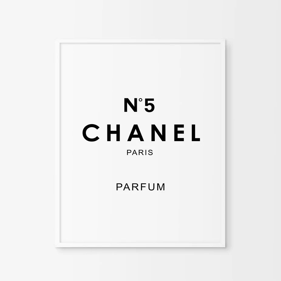 Floral Inspirational Quote Wallpaper Coco Chanel Poster Etsy Fr