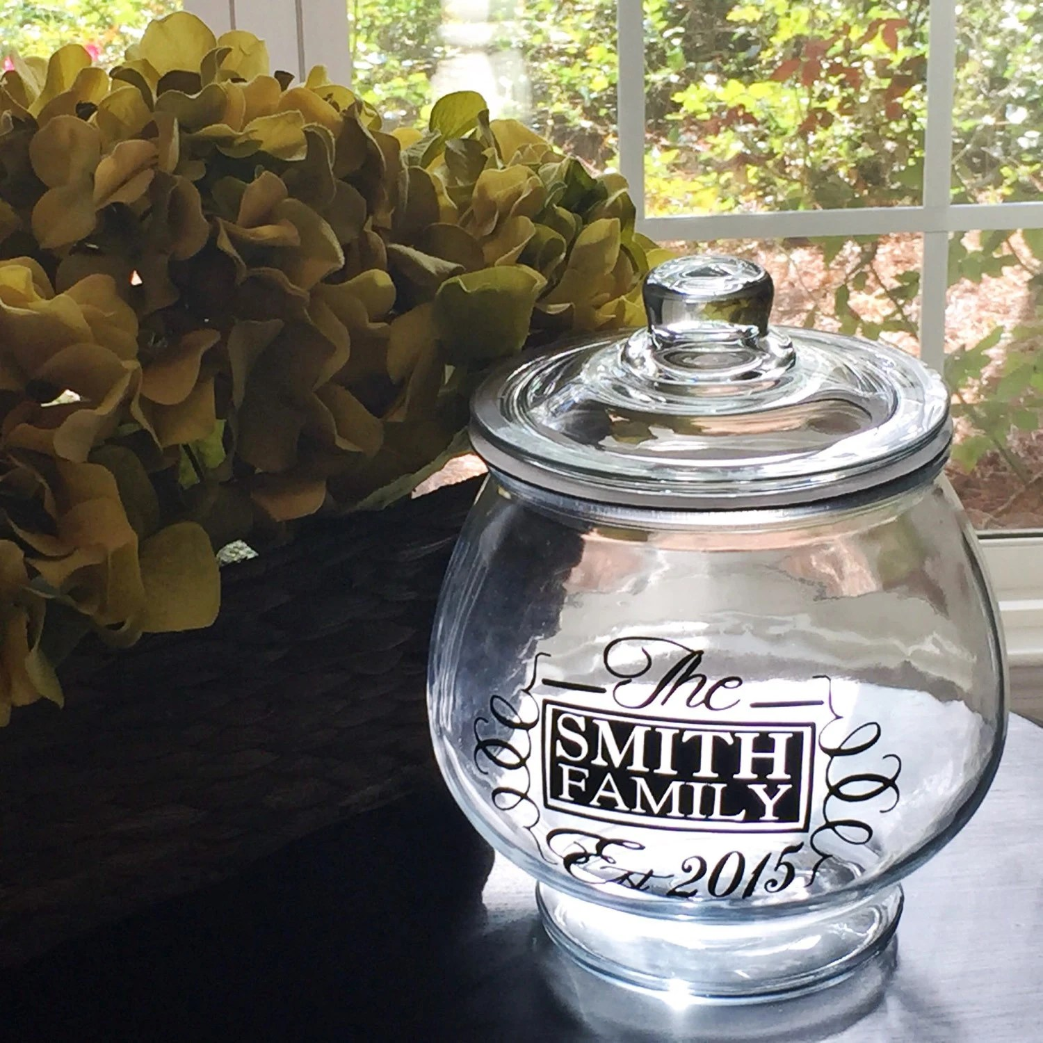 Huge Glass Cookie Jar Custom Personalized Cookie Jar Large Gift Glass