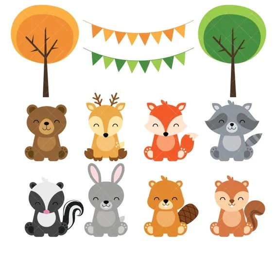 Cute Lockets Wallpaper Woodland Baby Animals Clipart Forest Animal By Clipartisan