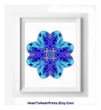 Turquoise Floral Mandala Medallion Art Print by ...