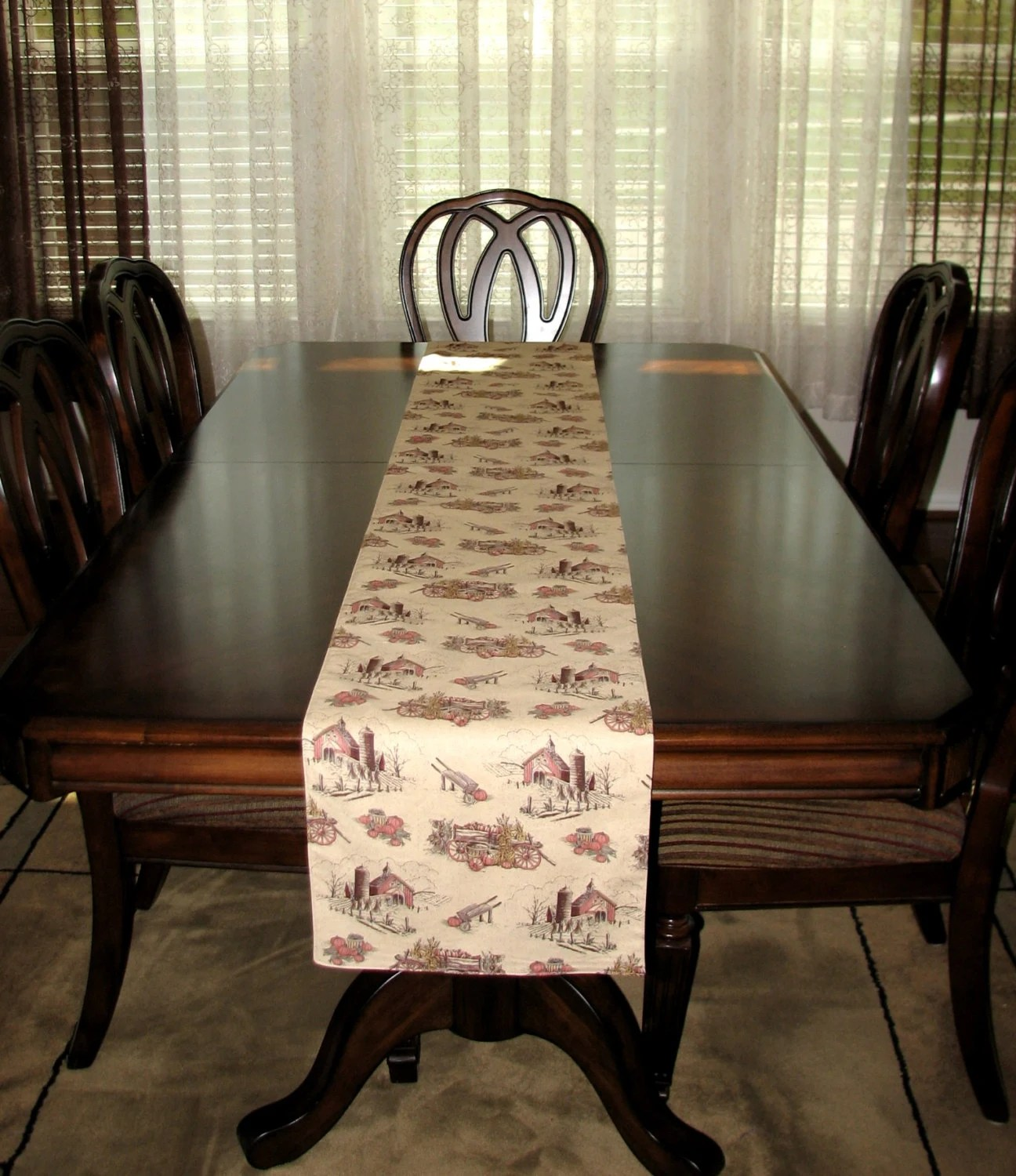 Farmhouse Style Table Runners Farmhouse Decor Rustic Home Decor Thanksgiving Table Runner