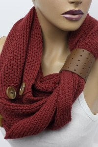 Knit Infinity Scarf Womens Knit Winter Scarves Womens Knit