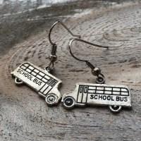 School Bus Earrings by FarmersWifeNS on Etsy