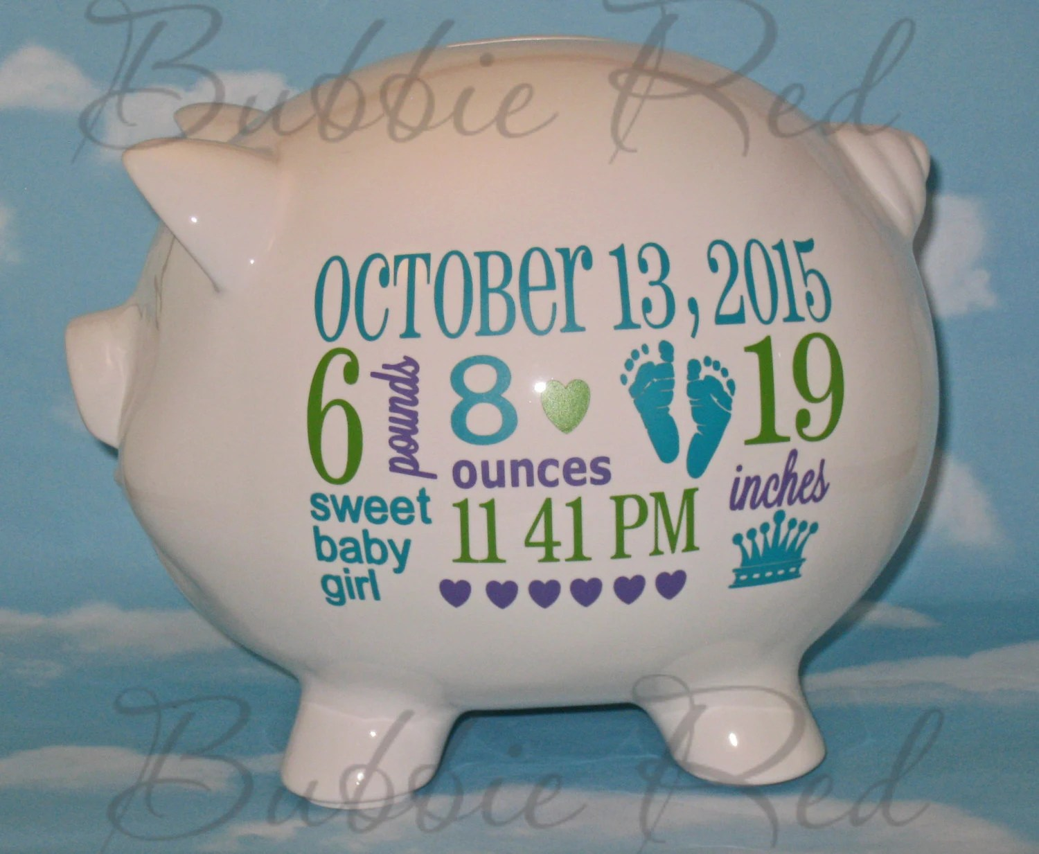Piggy Banks For Little Boys Personalized Piggy Bank Baby Boy Piggy Bank Baby Girl By