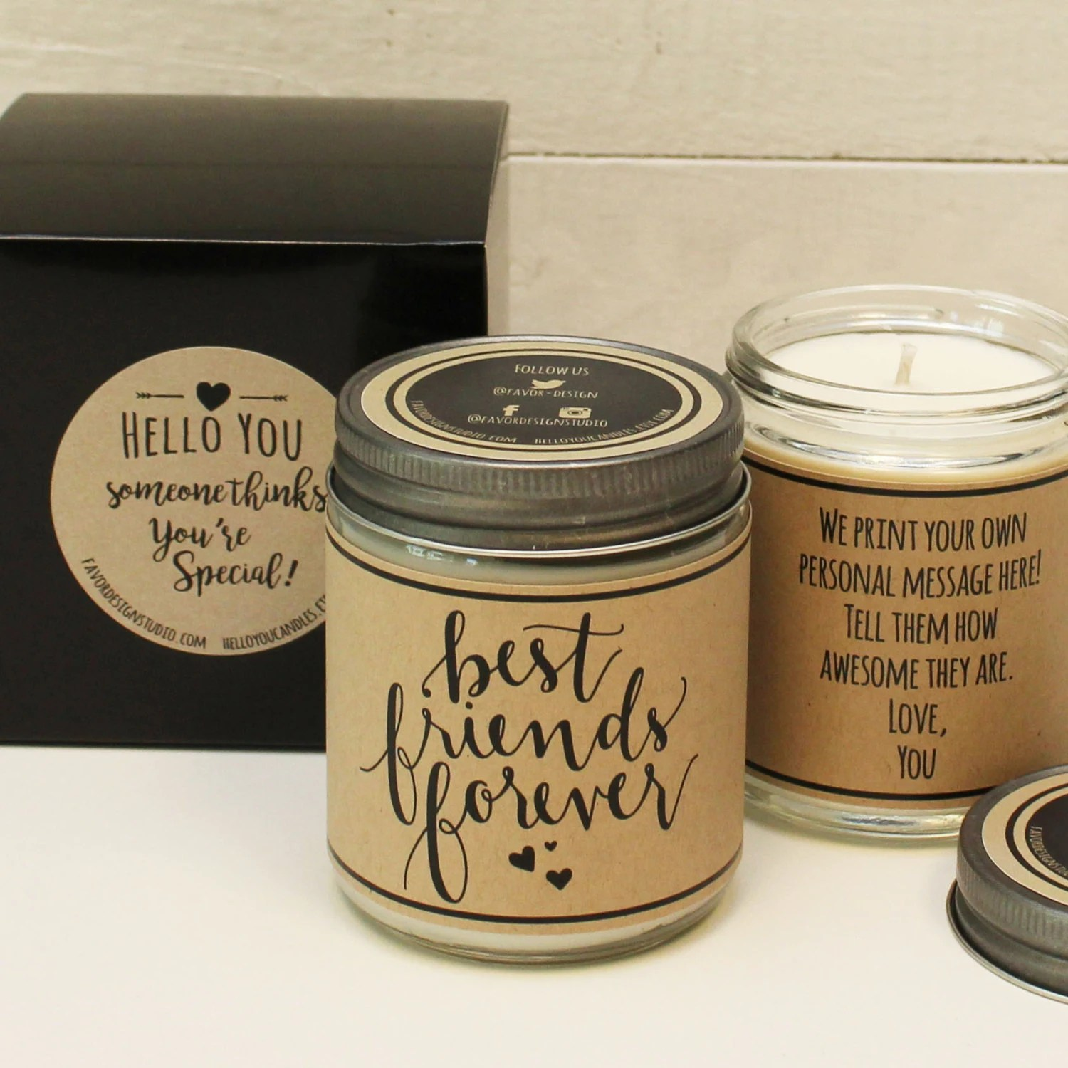 Best Scented Candles Best Friends Forever Scented Soy Candle Gift By