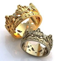 Crown Wedding Bands Diamonds Crown Wedding Bands by ...