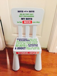 Time out chair boy girl boys will be boys chair