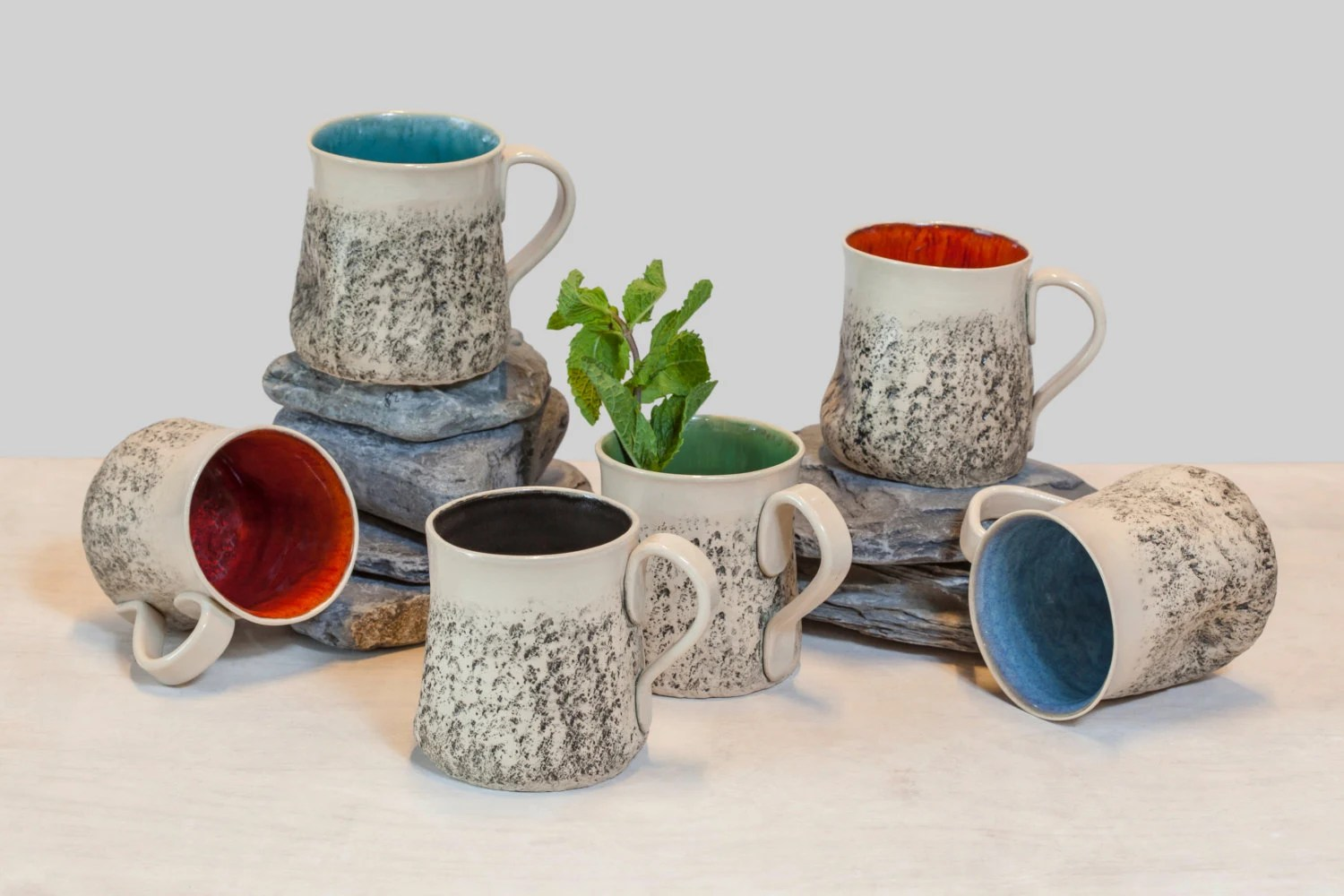 Large Coffee Mug Sets 12 Handmade Mug Set Large Coffee Mug Set Handmade Tea Cup