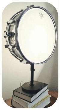Snare Drum Table Lamp Musical Instrument Light by LitforaQueen