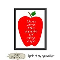 Apple wall art apple wall dcor apple of my eye by ...